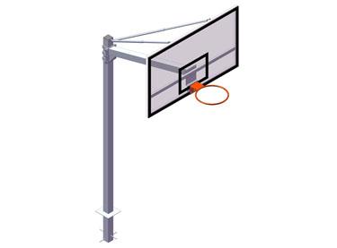 EB010 / EB011. Canasta basket EUROSCHOOL empotrar v 1,65 m.