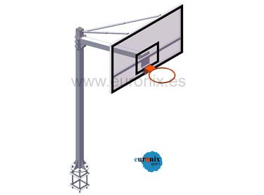 EB012 / EB013. Canasta basket EUROSCHOOL  v 1,65 m.