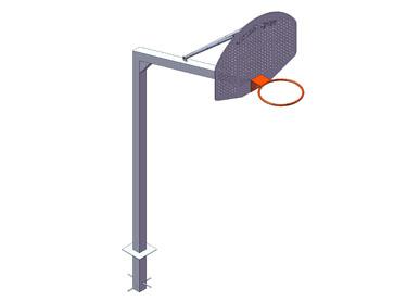 EB018. Canasta basket ANTIVANDALICA empotrar v 1,65 m.
