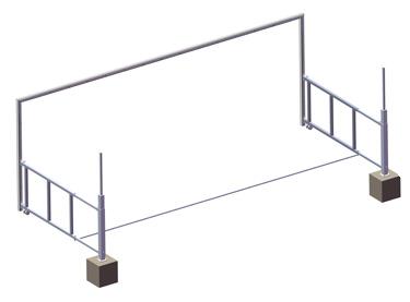 Portería aluminio fútbol 7 portátil (EFPA004/EFPA005)
