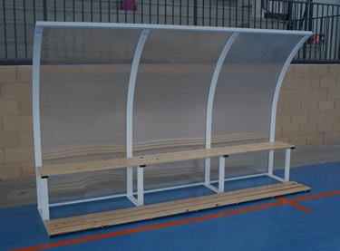 Banquillo jugadores interior 3 mts (EFBI001)