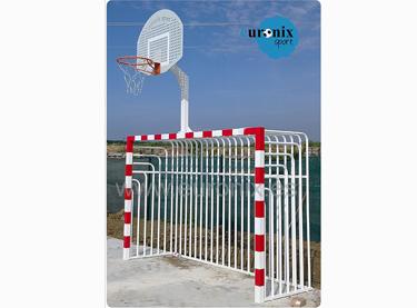 (EBM 006). Portería BM-basket antivandalica trasera cerrada de tubo
