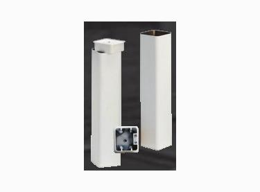 (ECP 006). Anclaje tubo 80.80 mm. aluminio