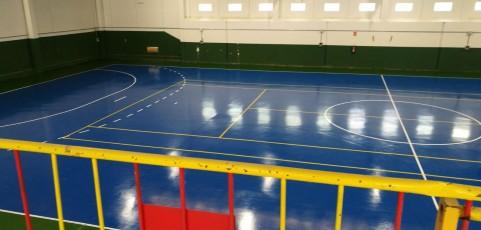 Aplicación Resinas Deportivas Especiales para Patinaje con marcajes en Villanueva de Gállego