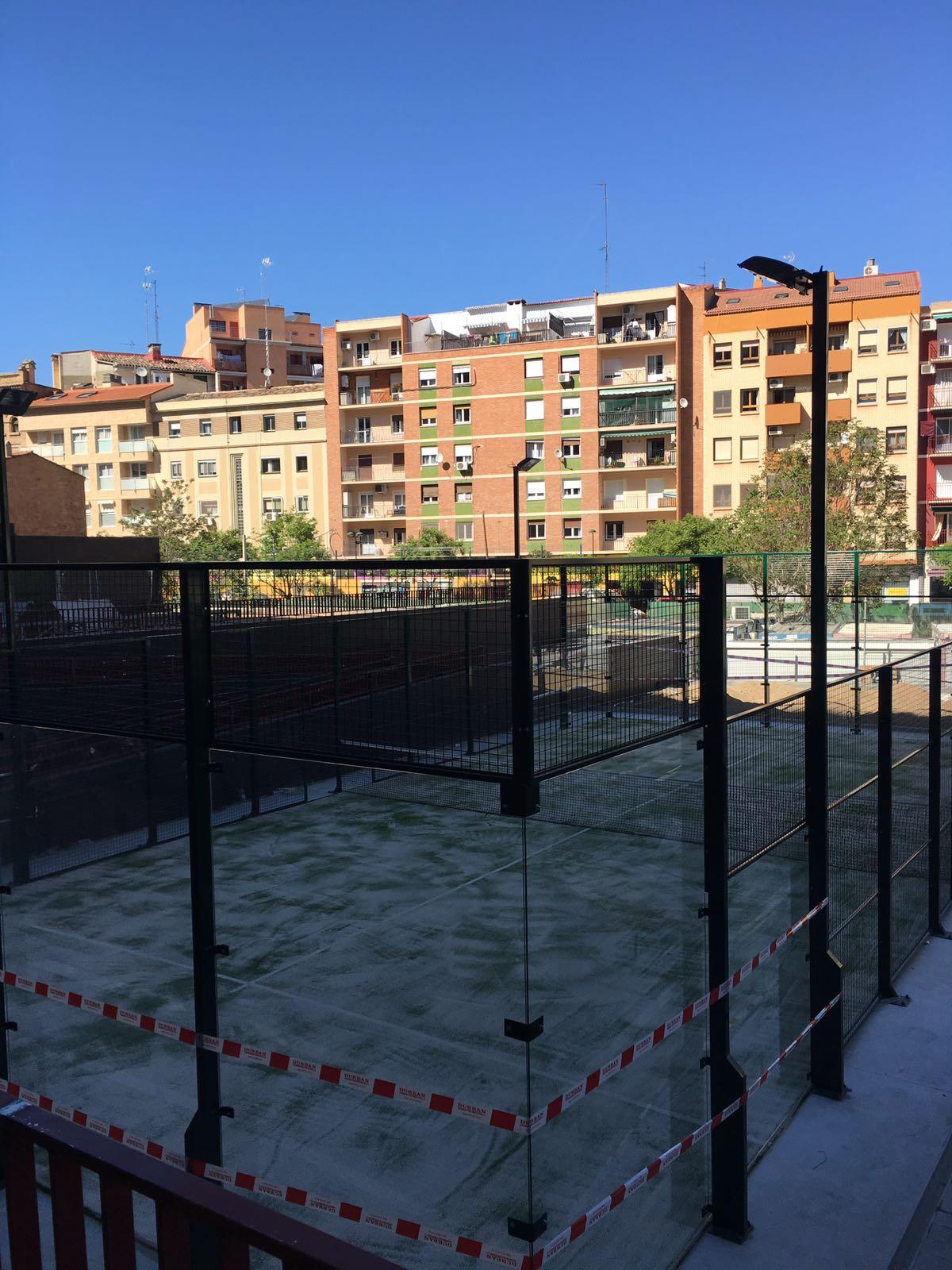 Pista de  Padel en Barrio de Jesús, Zaragoza. Euronix