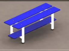 EBV 012 – Bench with shoe racks (Steel – phenolic)