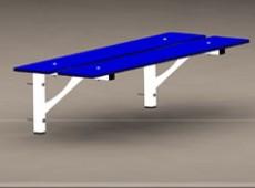 EBV 013 – Bench – wall fixed (Steel – phenolic)