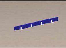 EBV 019 – Coat hooks unit (Steel – phenolic)