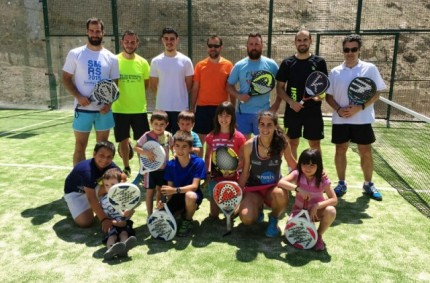 Opening Clinic in padel court Euronix