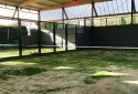 Padel courts, cover and decorative turf in Bilbao