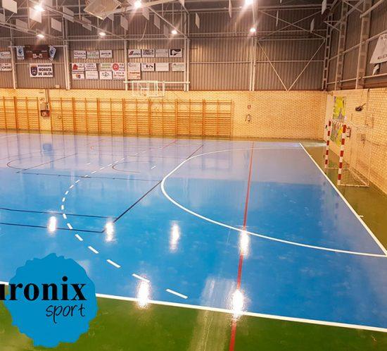 euronix sistema resinas en polideportivo de morata de jalon