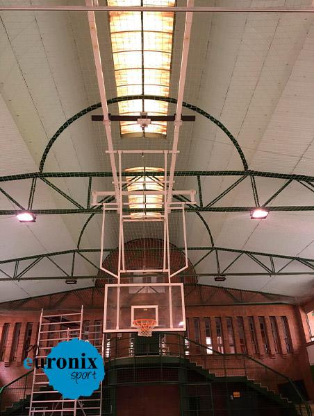 Canasta de techo colegio Las Anas de Zaragoza