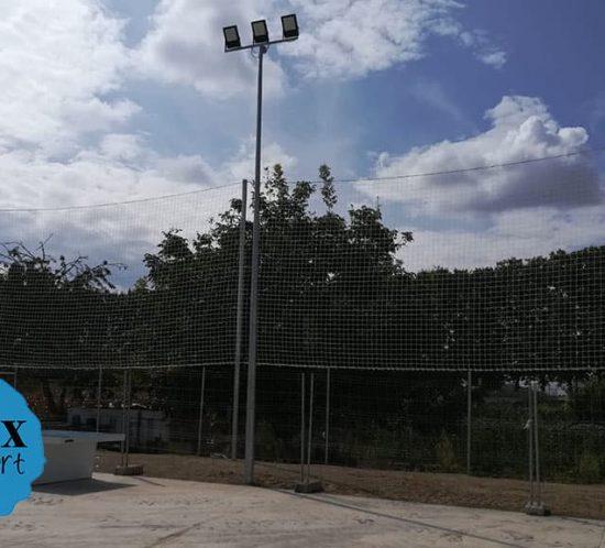 Instalación de redes de protección en Mollerusa 2