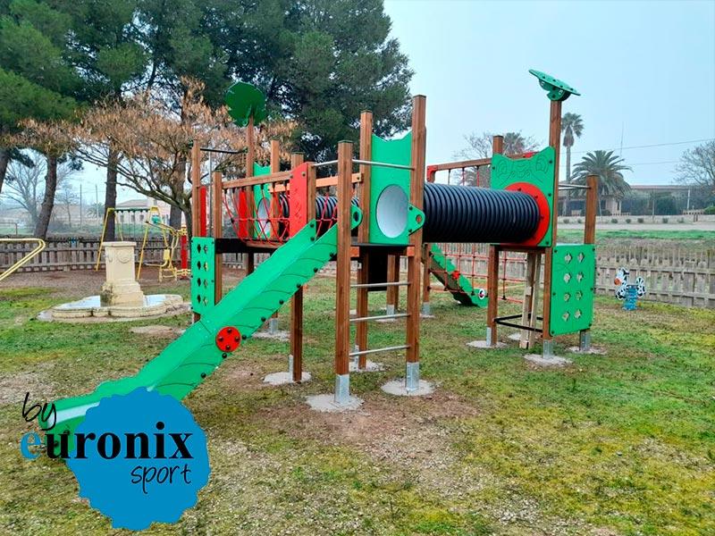 suministro e instalacion de 3 nuevos parques en Pedrola